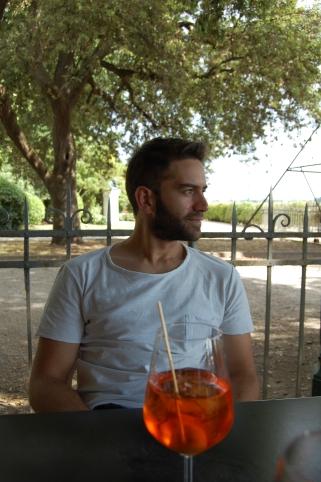 Nico disfrutando del Spritz